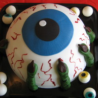 Creepy Eyeball Cake