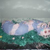 2009 Jte Cake Contest Caterpillar made by my 7 yr old daughter for her school's cake decorating contest. She came in 3rd for the First grade.