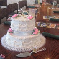 50Th Wedding Anniversary   my sister in laws 50th anniversary cake, two layer, buttercream,