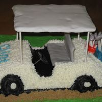 Grooms Cake I made the golf club bags and club's with MMF Thank you for looking and your comments.