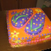 Img_0239.jpg   Flip Flop Cake with buttercream icing.