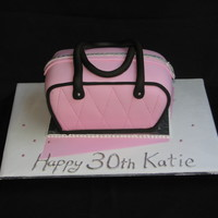 Handbag Cake Choc cake, with chocolate ganache
