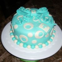 1St Fondant Cake This is my very first shot at making a fondant cake, i also made the fondant i'ts marshmallow. it was originally for practice but...