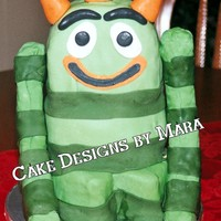 Yo Gabba Gabba Brobee I made this for a friend. Chocolate cake covered & decorated w/ fondant. My first attempt at a carved cake. Inspired by cakes right...