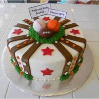 Sports Themes Baby Shower Cake