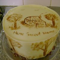 My First Attempt At Cocoa Butter Painting I made this for my son and his fiancee`s house warming. It`s a lemonand poppy seed mud cake with lemon curd filling, white choc ganache and...