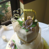 First Fondant Wedding Cake