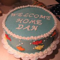 Under The Sea   My brother came home having been at sea for 60 days. This was his welcome home cake.