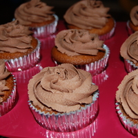 Chocolate Cuppies Chocolate cupcakes with milk chocolate cuppies.