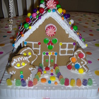 Christmas Gingerbread House My 4 year old daughter helped me decorate this gingerbread house.