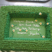 Thanks For Saving The Hedge This was made for a co-worker. His way of saying thank you to the neighbors for helping save his hedge!all buttercreamyellow cake