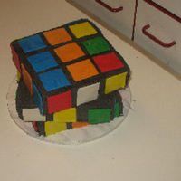 Rubix Birthday yellow/lemon cake with buttercream frostingfondant accents Many thanks for the inspiration and help from fellow bakers here at cc