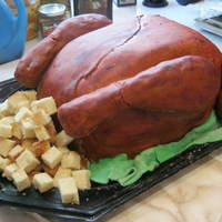 Turkey My first turkey cake!!! chocolate cake with buttercream frosting and fondant