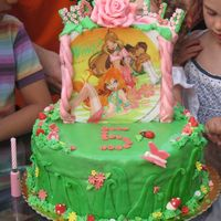 Winx... In The Garden I made this cake for my little daughter who likes, winx ...and flowers. Despite the hottest weather and the fondant dripping , I like this...