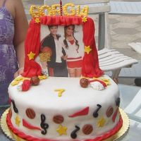 High School Musical sponge cake covered in home made fondant.