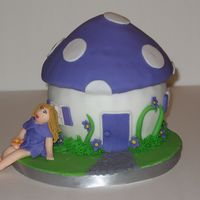 Mushroom House WASC, and first attmept at afries. I forgot the wings! But it was 11 at night and I was attmepting to do her makeup- not a good idea! Her...