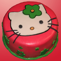 "Hello Kitty 10"" WACS with raspberry filling."