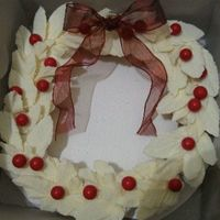 "Christmas Cupcake Wreath From the book ""Hello Cupcake!"" by Karen Tack and Alan Richardson"