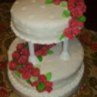 Wedding.jpg All fondant with 40 handmade fondant roses