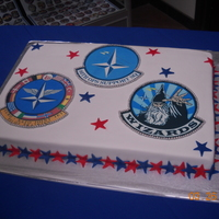 Change Of Command This was a WASC cake made for a change of command at our base. Covered in MMF with edible images