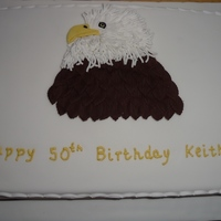 Eagle Birthday Cake A huge thanks to Victoria724 for allowing me to use her eagle design.This was for a male friend who has a love of birds of prey and was a...