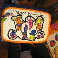 Backyardigans Themed Cake This cake was my first FBCT for my daughters 2nd birthday. I am new to cake decorating and this is only my 2nd cake I have done.