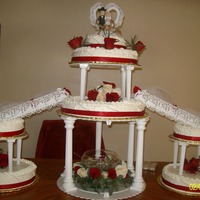 Red And White Wedding Cake 3 leches wedding cake with my special frosting made of cool whip and cream cheese