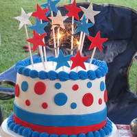 4Th Of July Birthday A birthday cake for my brother's 35th birthday which is on the 4th of July. It was made with layers of peanut butter cake and...