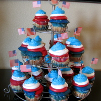 4Th Of July Cupcakes 4th of July Cupcakes