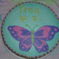 Free As A Butterfly My first FBCT. It's a retirement cake for my grandmother (who always made my birthday cakes growing up) She still makes cakes for...