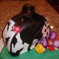 Zebra Purse my first purse cake...can't wait to do another one!