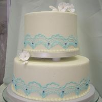 Blue Lace Banana Chocolate Chip Cake; Chocolate truffle filling; Cream Cheese Icing