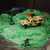 Army army cake with toys