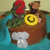 Curious George This chocolate sponge cake with chocolate italian buttercream and chocolate ganache filling was a last mintue. 8 hours to be exact birthday...