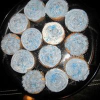"""new Years Blue"" ""Swiss Meringue Butter Cream...cupcakes for a new years party"""
