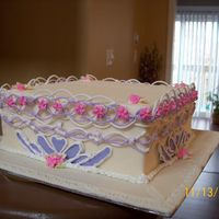""" Pretty Sweet""   ""Practicing all sorts of piping skills, from Cake Decoration class..lol"""
