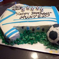 Soccer Theme Birthday Cake