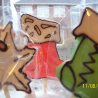 "Christmas Cookies   ""Funky colored Christmas cookies...Made them last year & forgot to post them here on CakeCentral...LOL"""