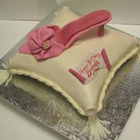 Pillow And Shoe Birthday Cake