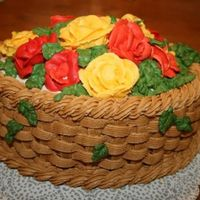 Fall Basket This design usually is decorated as a Spring basket. For my mom's November birthday I changed the colors to reflect Fall. The roses in...