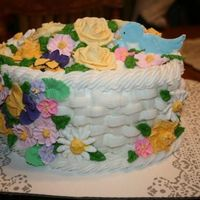 Course 2 Graduation What a fun cake to make! I was so excited to learn the basket weave.