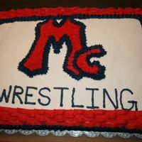 Mcgavock High School Wrestling Large sheet cake made for the high school wrestling team. I used the basket weave on top of the cake as edging. This cake could easily be...