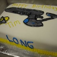 Starship Enterprise Cake For My Trekkie Brother