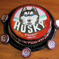 "Husky Tobacco Can Gross I know! I made this cake for my husband who has aquired a little lip habit. It is a 12"" round carrot cake covered with mm..."
