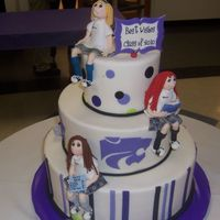 Sophomore Day Cake With Figure Models  This was my first time figure modeling. A cake for my daughters 10th grade class. Fed 125! To celebrate their class colors, purple and...