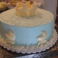 Baby Buggy Cake White chocolate buggy with bc frosting. Put together at last min. I tried