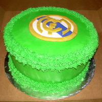 Real Madrid In honor of his favorite soccer team and the world cup, a cake for real madrid.