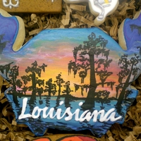 Taste Of Louisiana A customer from Port Fourchon, LA reuqested a basket of cookies that represented South Louisiana, so this is what I came up with! :) Thanks...
