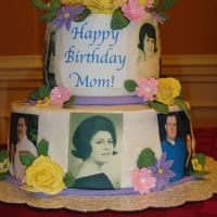 To My Mother In Law My mother in law found a few photos of herself as a young girl so I thought it would be fun to use them for her cake.