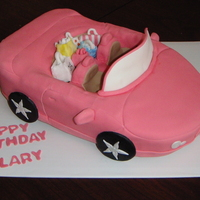 Sweet 16 Pink Convertible Cake is a white cake with buttercream, all accents and packages make of RKT and fondant.
